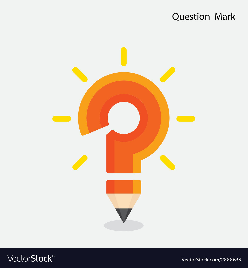 Pencil question mark on background vector | Price: 1 Credit (USD $1)