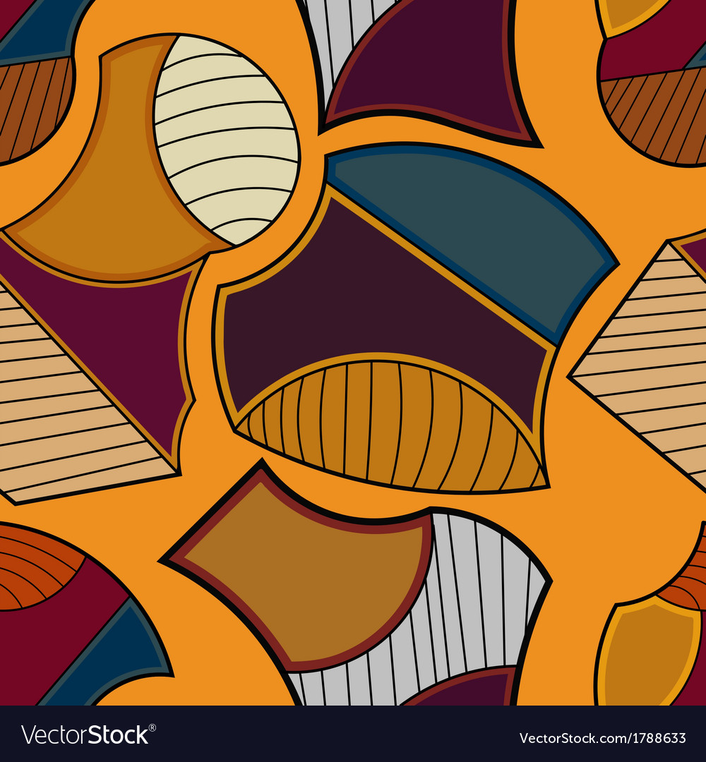 Seamless geometric pattern on an orange background vector | Price: 1 Credit (USD $1)