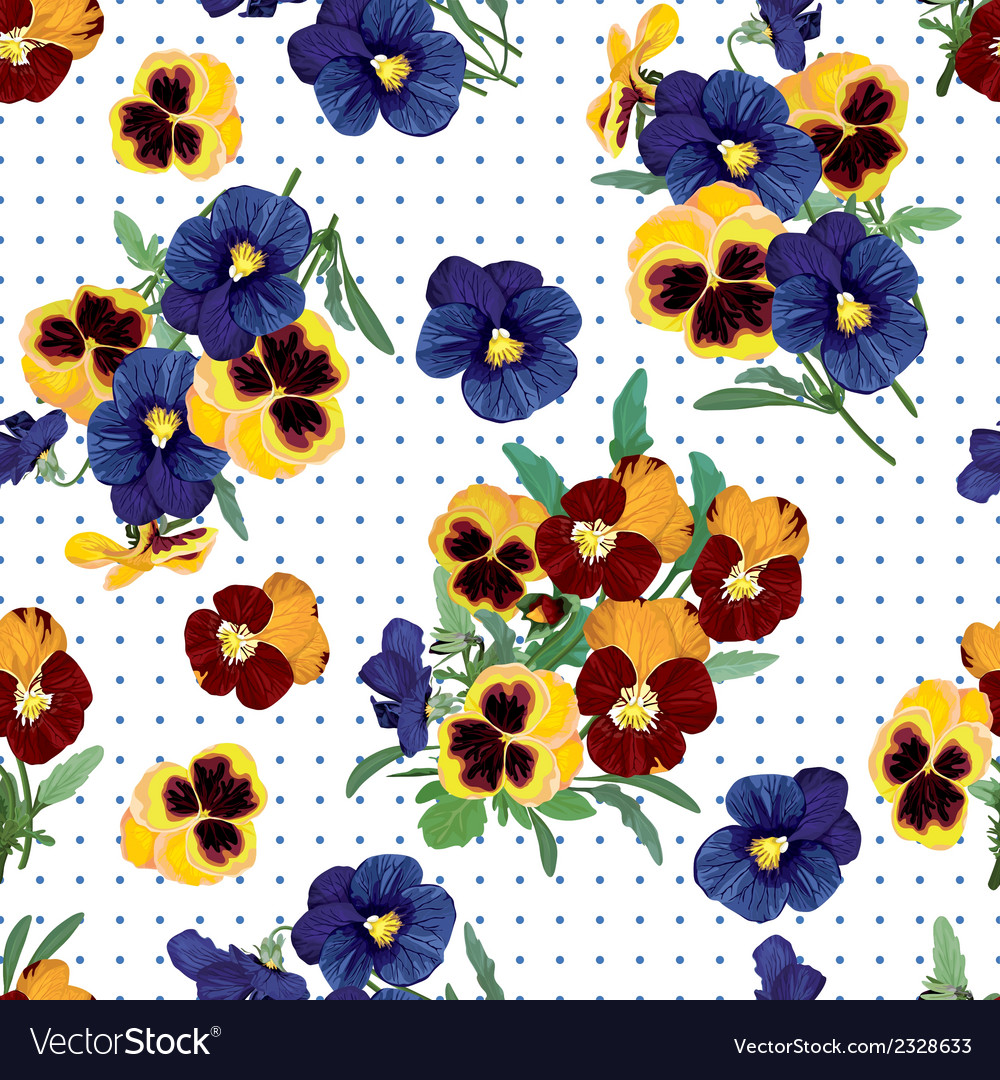 Seamless pattern bouquet of forget me nots vector | Price: 1 Credit (USD $1)