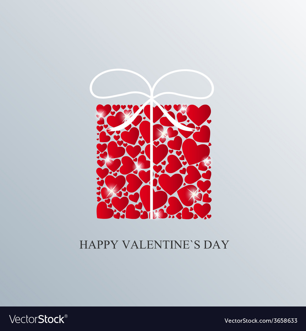 Valentine day card with heart vector | Price: 1 Credit (USD $1)