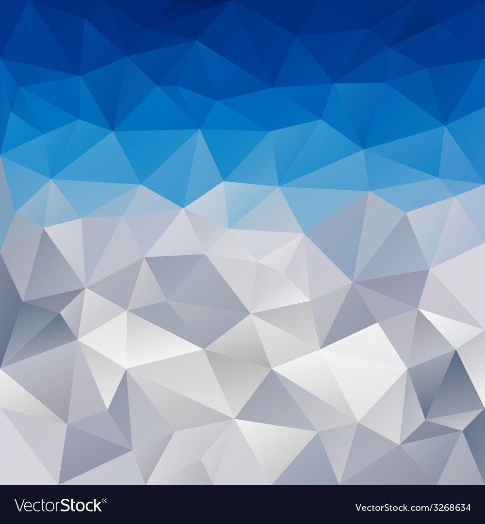 Blue winter triangular background vector | Price: 1 Credit (USD $1)