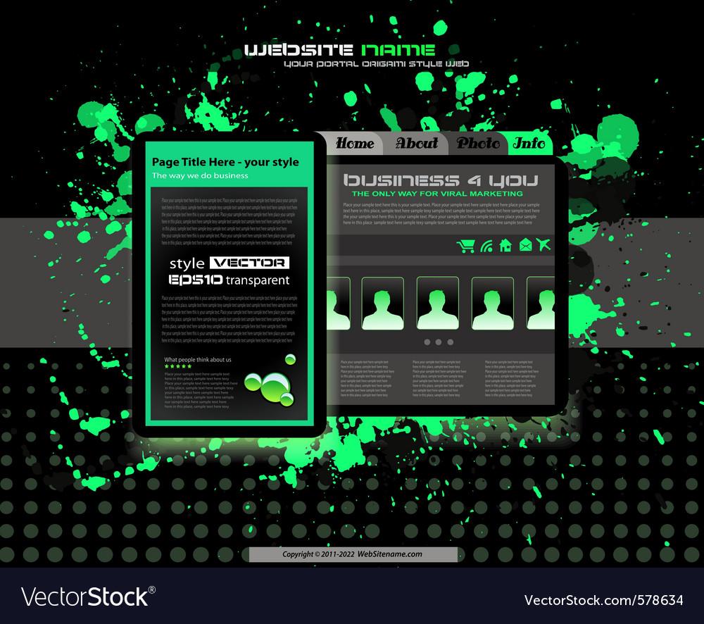 Business website vector | Price: 1 Credit (USD $1)