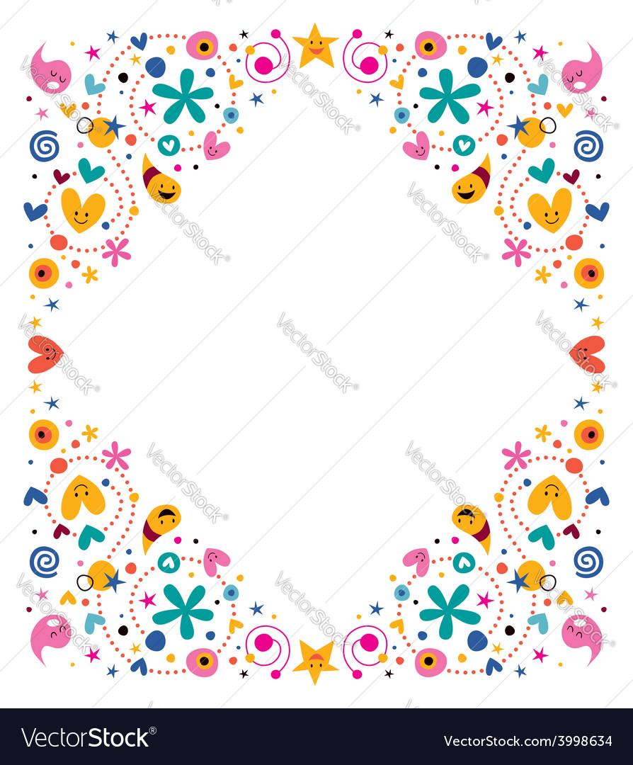 Celebratory happy cartoon frame design element vector | Price: 1 Credit (USD $1)