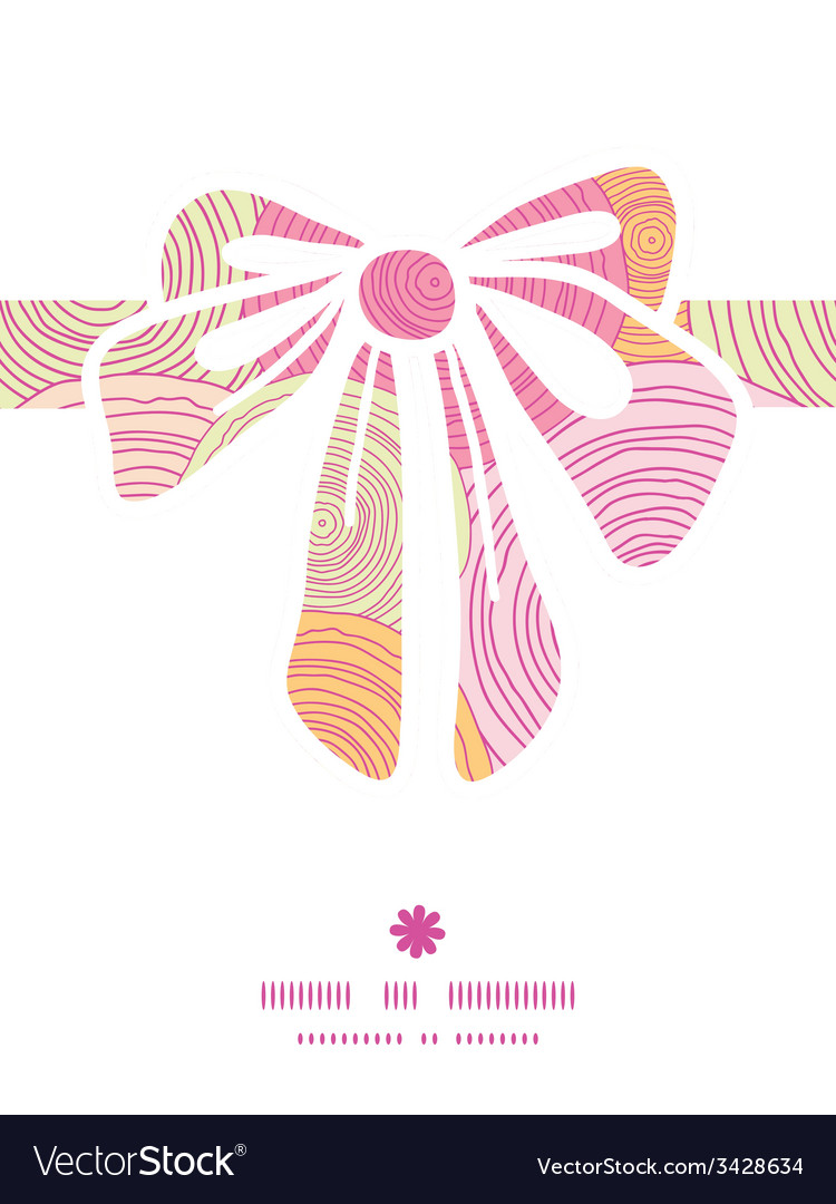 Doodle circle texture gift bow silhouette pattern vector | Price: 1 Credit (USD $1)