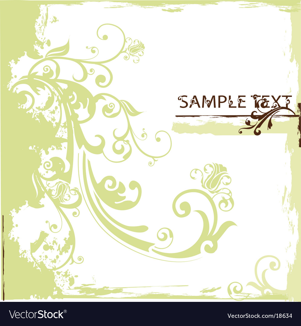 Floral banner vector | Price: 1 Credit (USD $1)