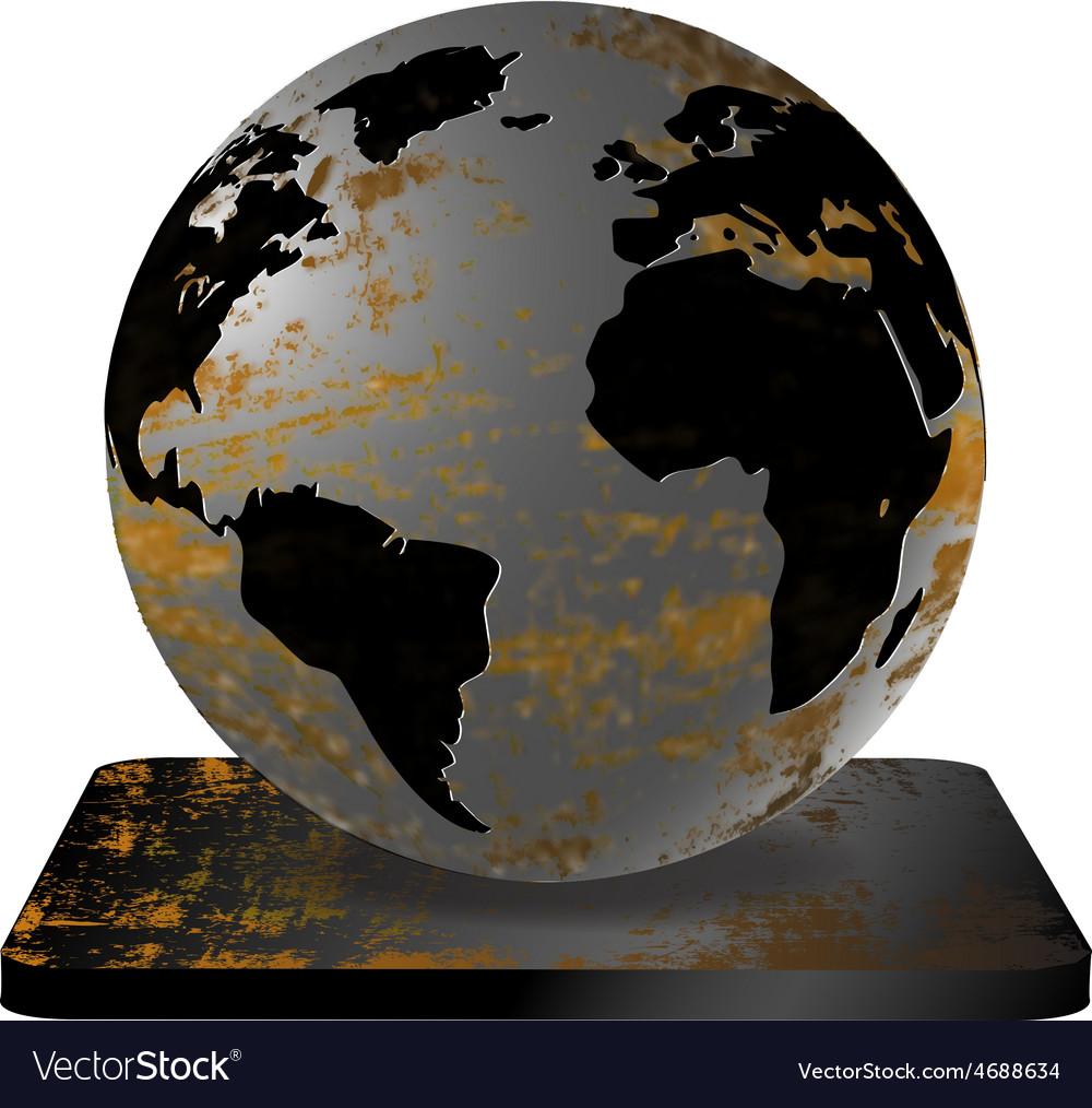 Iron earth vector | Price: 1 Credit (USD $1)
