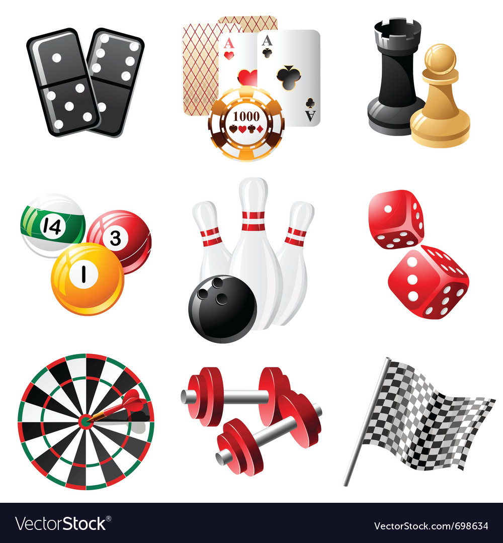Sports and leisure icons set vector | Price: 3 Credit (USD $3)