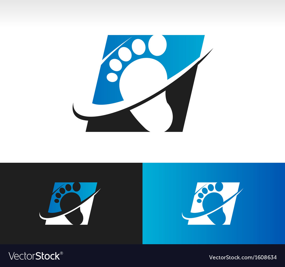 Swoosh foot logo icon vector | Price: 1 Credit (USD $1)
