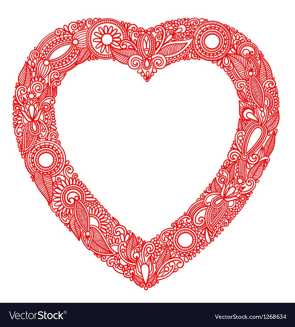 Valentin day card with heart vector | Price: 1 Credit (USD $1)