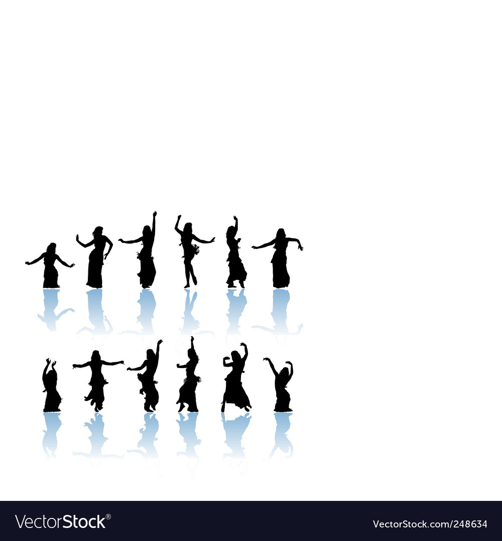 Woman dancers vector | Price: 1 Credit (USD $1)
