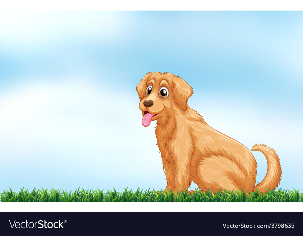 A cute dog vector | Price: 1 Credit (USD $1)