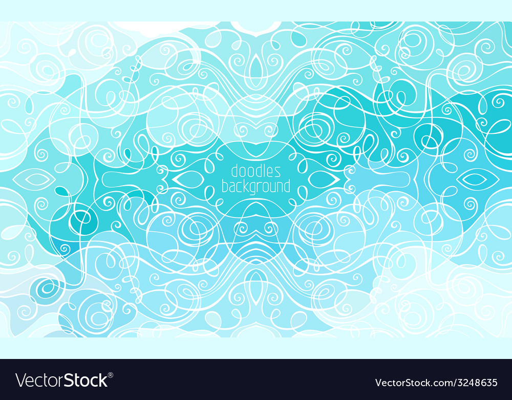 Abstract doodles background vector | Price: 1 Credit (USD $1)