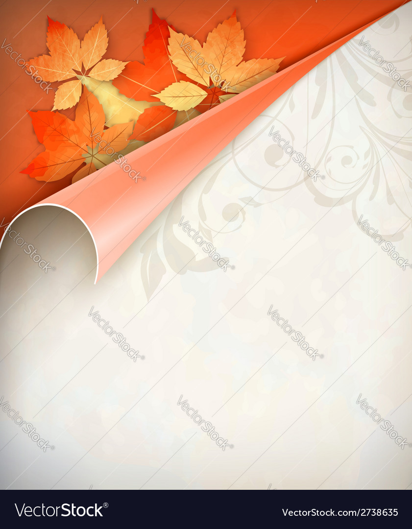 Autumn corner card vector   Price: 1 Credit (USD $1)