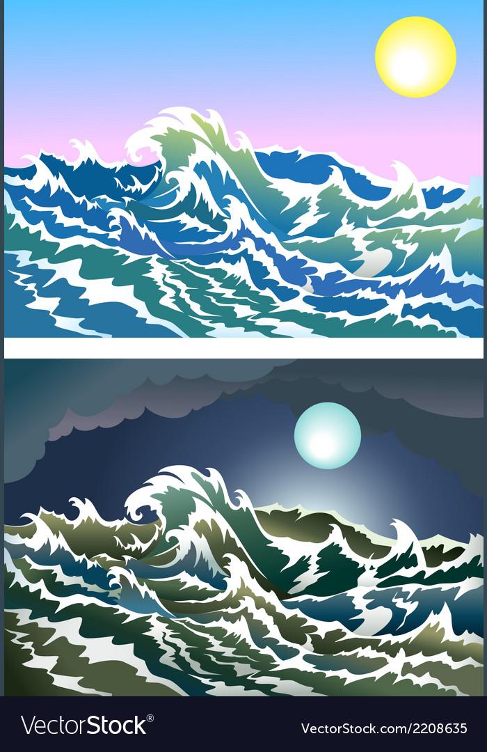 Blusterous sea vector | Price: 1 Credit (USD $1)