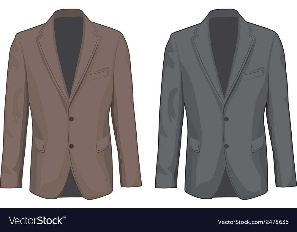 Brown and gray male coats vector | Price: 1 Credit (USD $1)