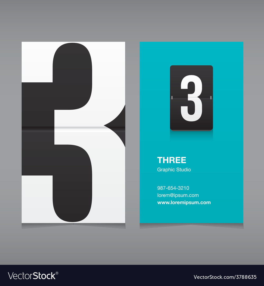 Business card number 3 vector | Price: 1 Credit (USD $1)