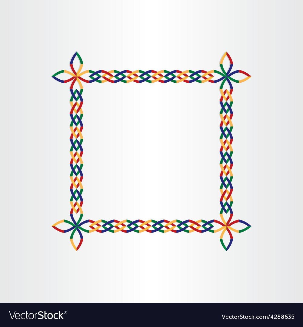 Color square decorative birthday frame design vector | Price: 1 Credit (USD $1)