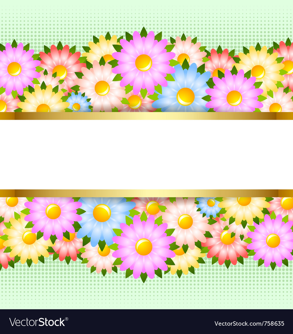 Flower card template vector | Price: 1 Credit (USD $1)