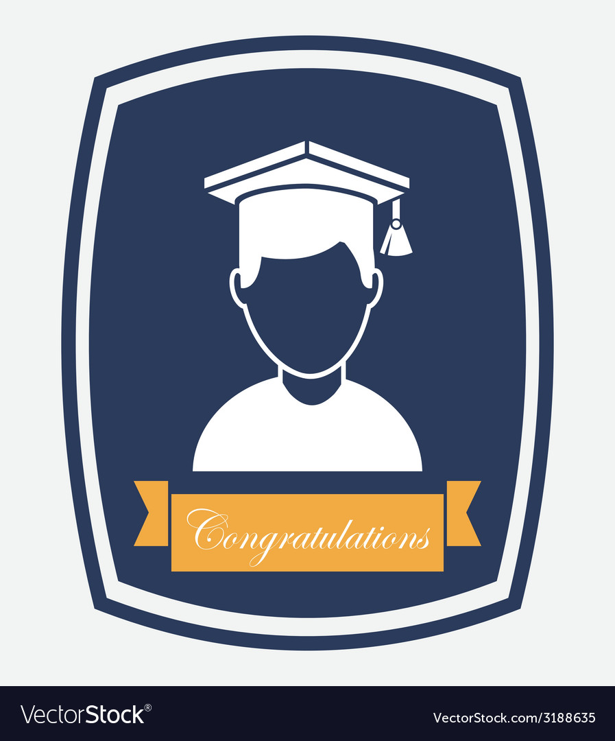 Graduation design vector | Price: 1 Credit (USD $1)