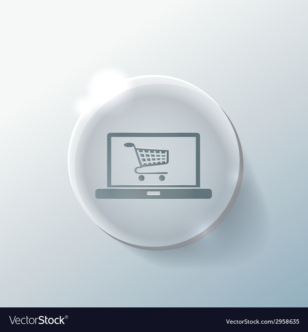 Laptop with symbol shopping cart vector | Price: 1 Credit (USD $1)