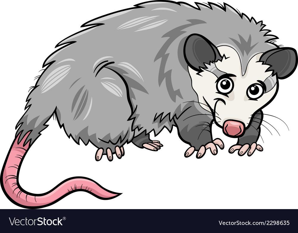 Opossum animal cartoon vector | Price: 1 Credit (USD $1)