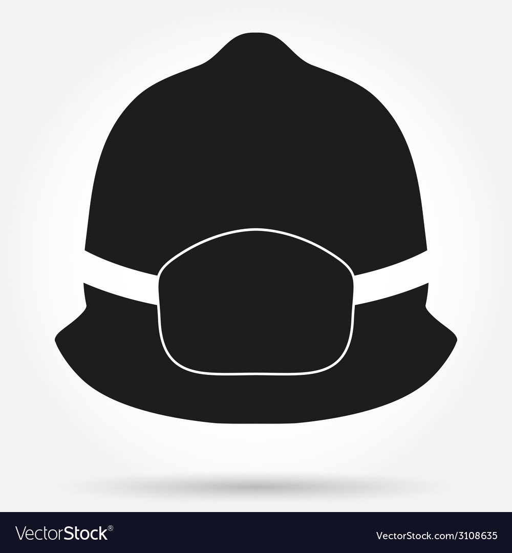 Silhouette symbol of fireman helmet vector | Price: 1 Credit (USD $1)