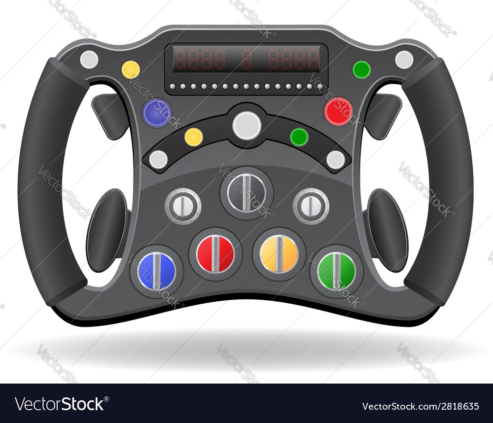 Steering wheel of racing car vector | Price: 1 Credit (USD $1)