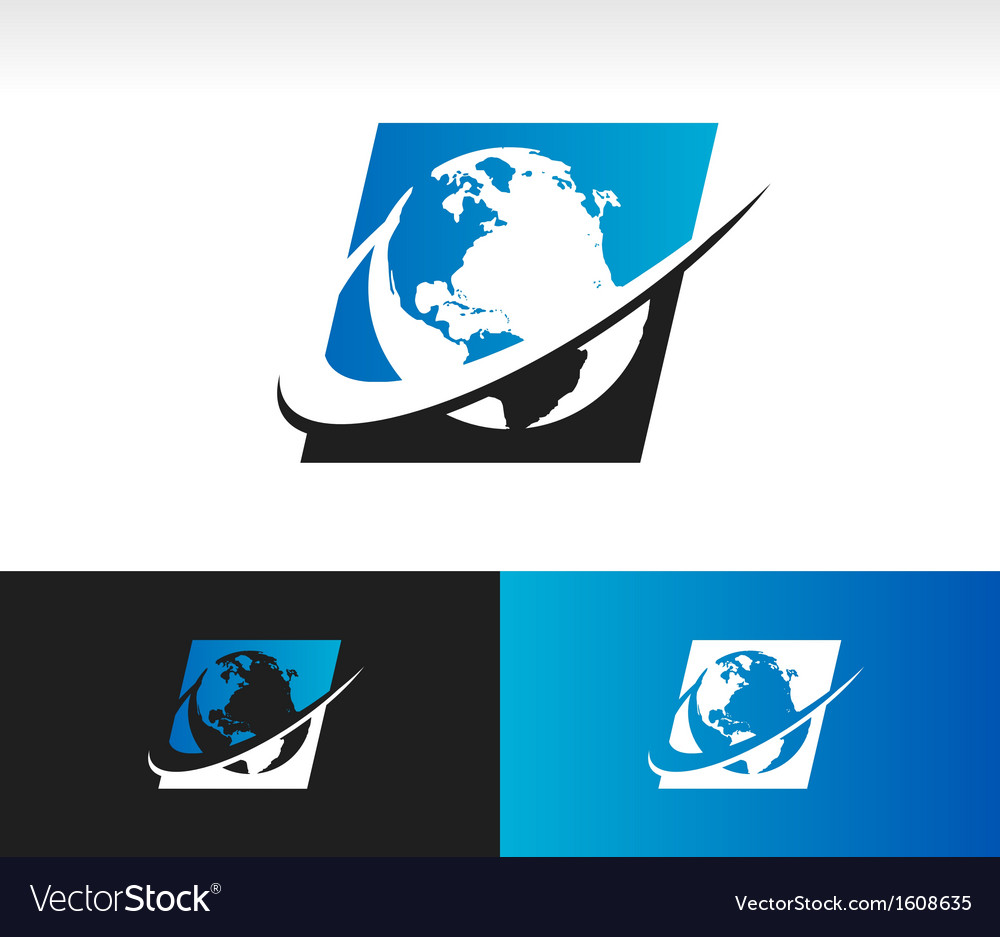Swoosh planet earth icon vector | Price: 1 Credit (USD $1)