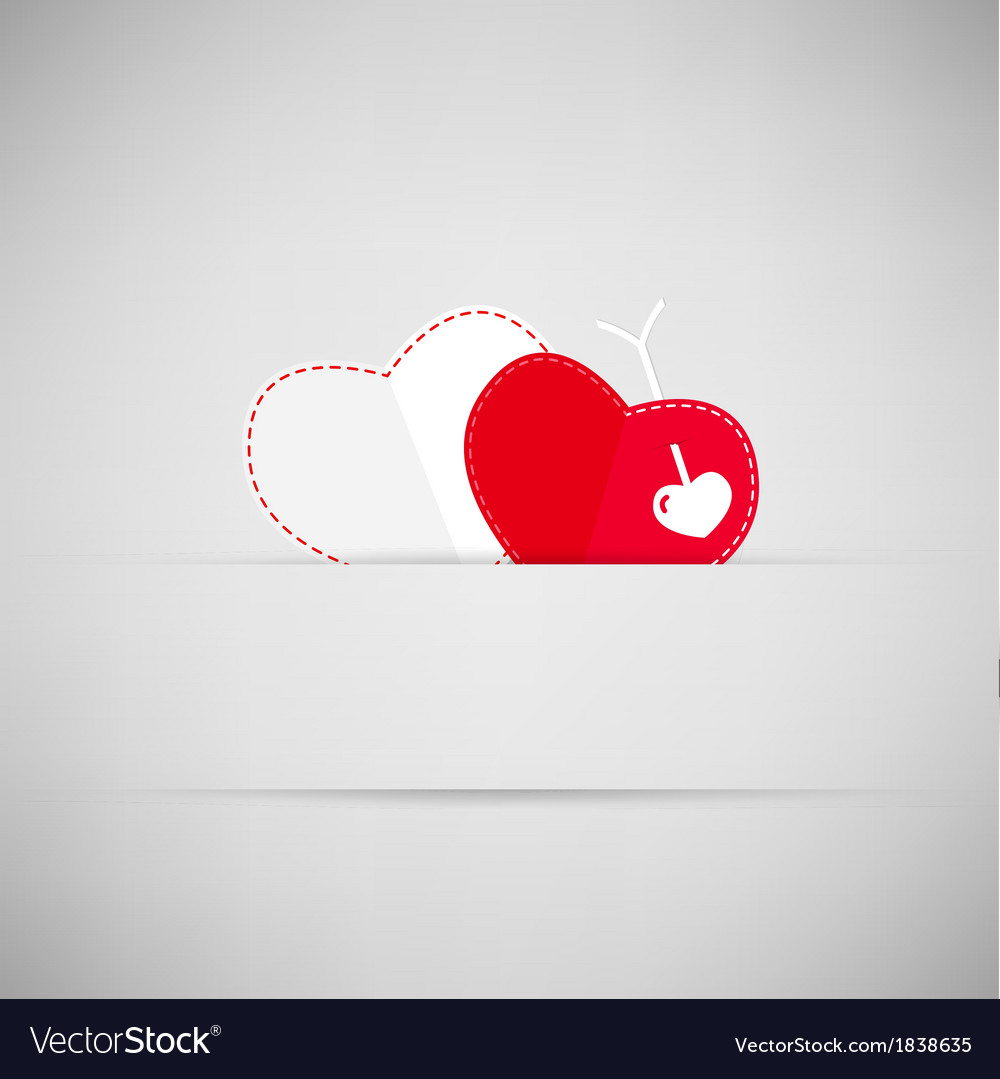 Valentines day background with heart an arrow vector | Price: 1 Credit (USD $1)