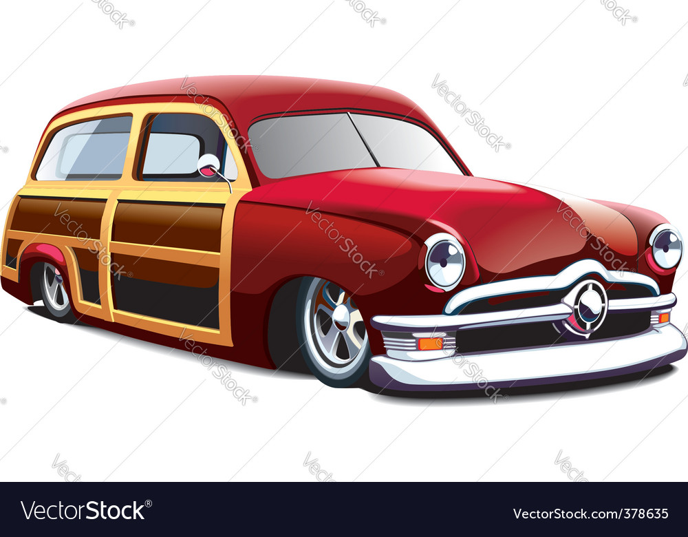 Wooden body hot rod vector | Price: 5 Credit (USD $5)