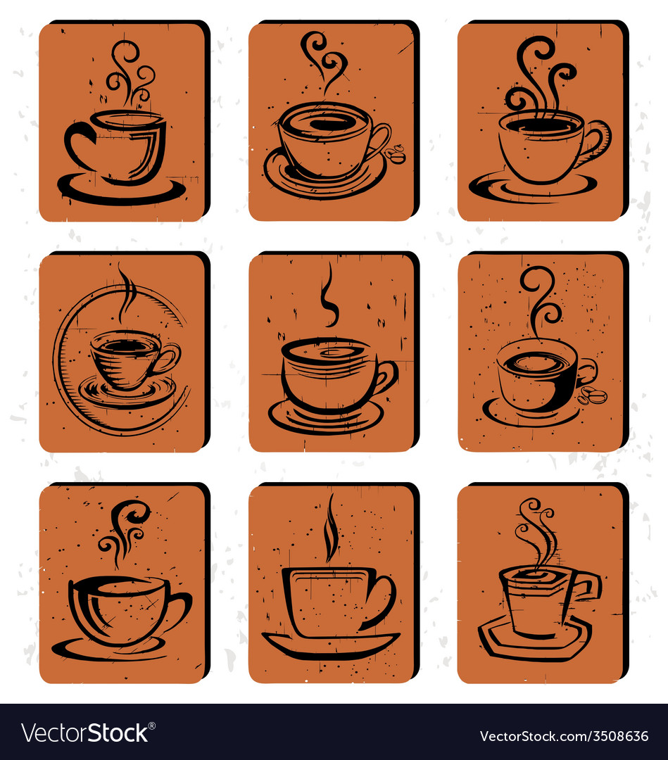 Abstract coffee cup icon vector | Price: 1 Credit (USD $1)