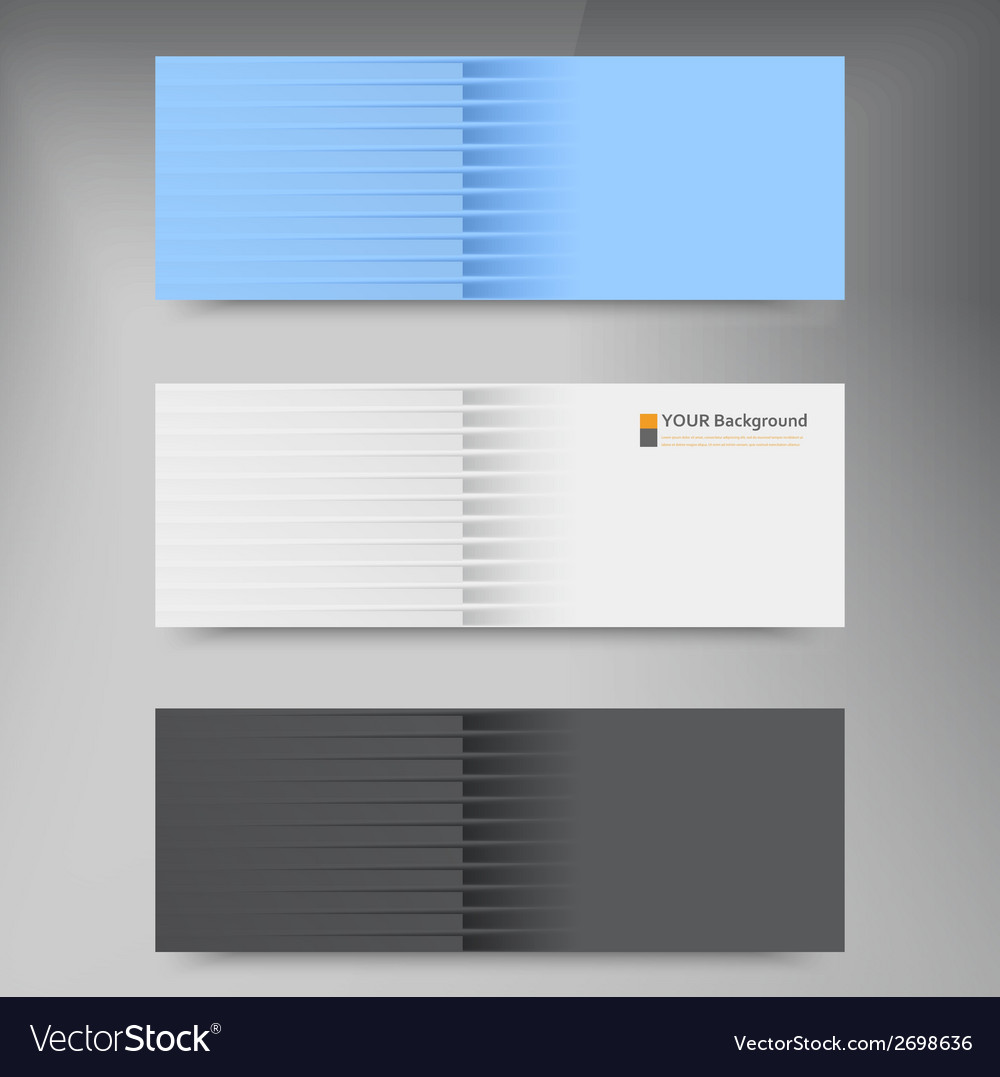 Banners and line color web design vector | Price: 1 Credit (USD $1)