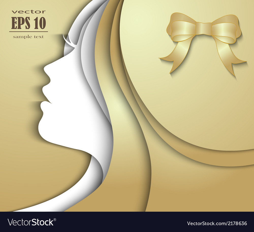 Beautiful girl with golden hair vector | Price: 1 Credit (USD $1)