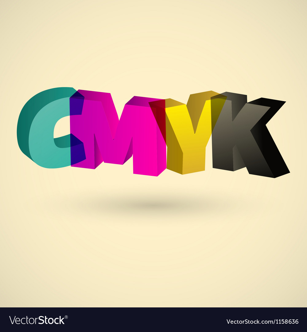 Cmyk letters design art vector | Price: 1 Credit (USD $1)