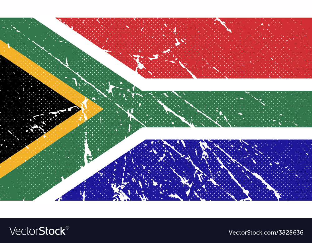 Flag of south africa with old texture vector | Price: 1 Credit (USD $1)