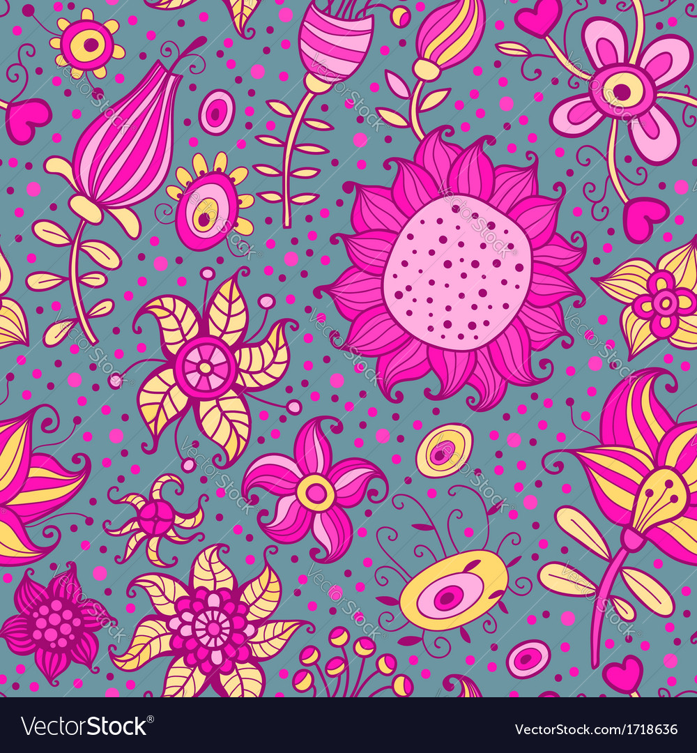 Flowering garden vector | Price: 1 Credit (USD $1)