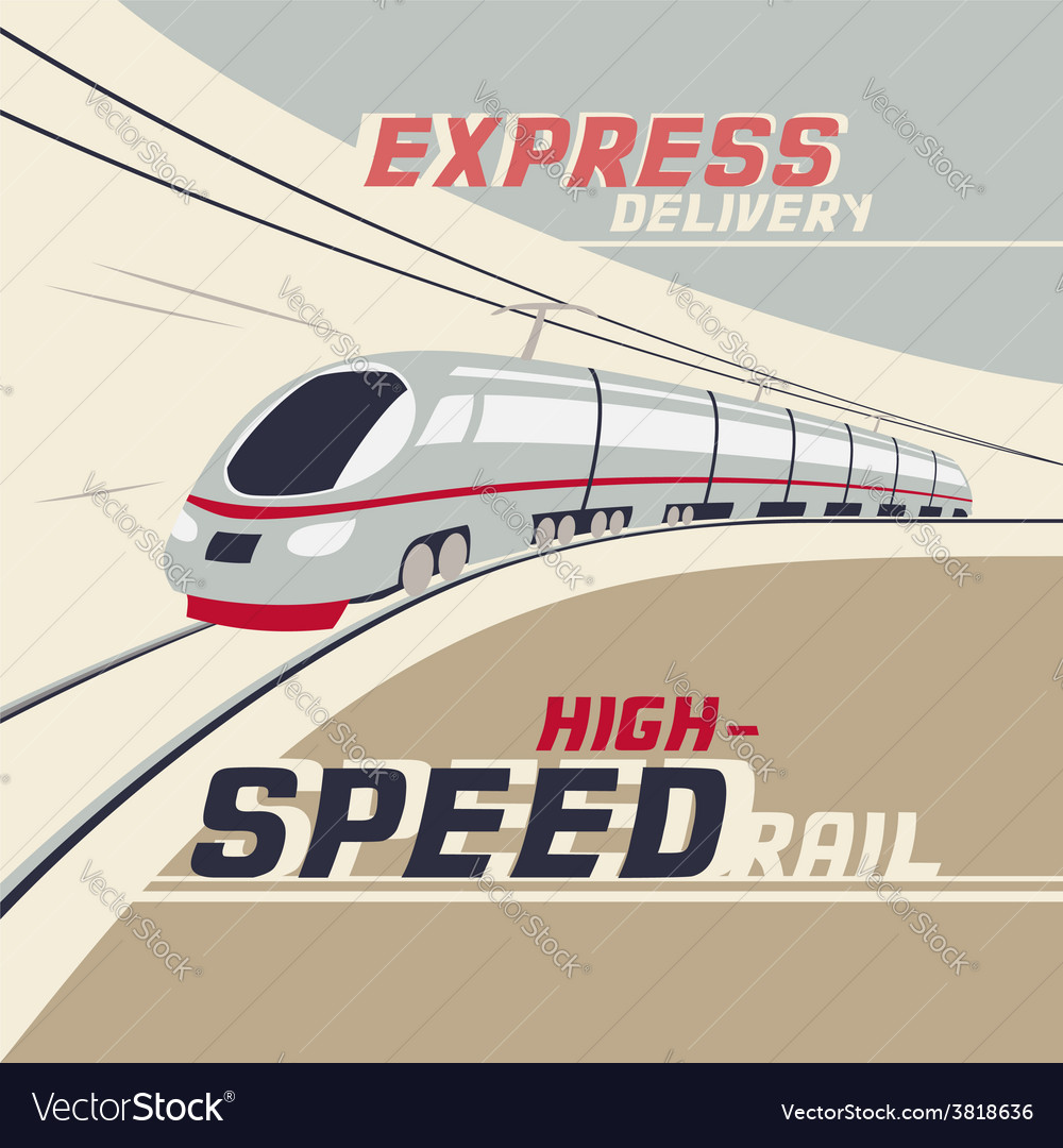 High-speed rail vector | Price: 3 Credit (USD $3)