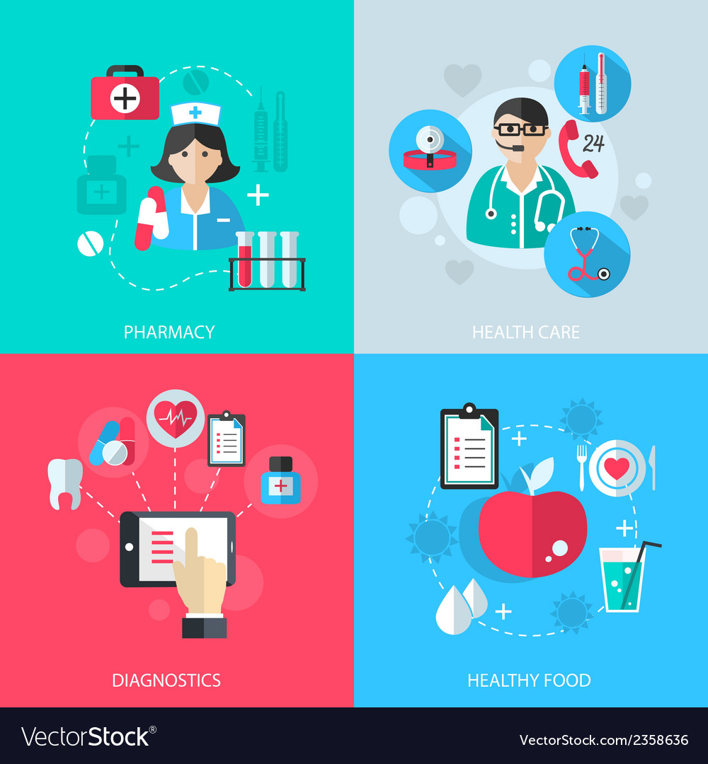 Medicine healthcare services concept vector | Price: 1 Credit (USD $1)