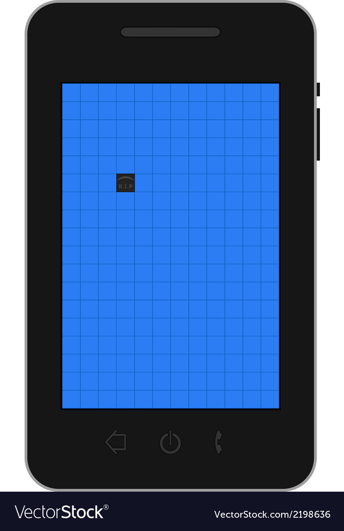 Mobile dead pixel vector | Price: 1 Credit (USD $1)