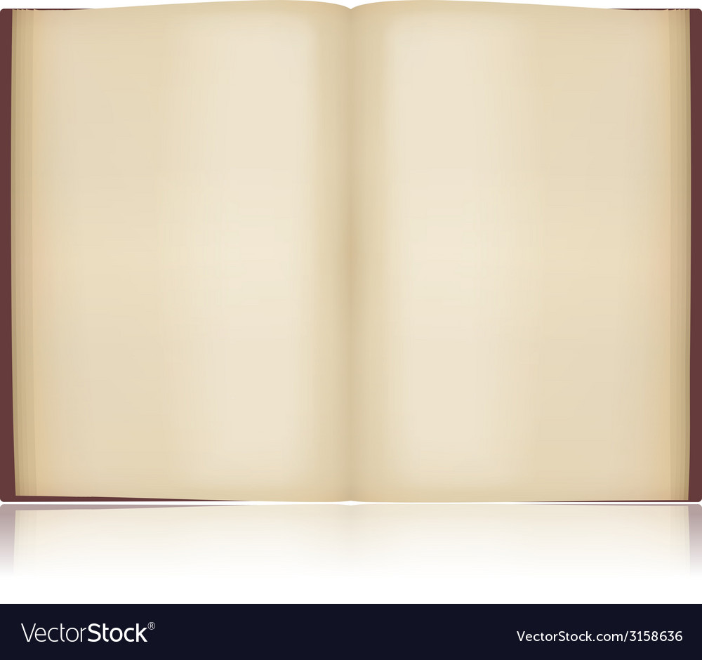 Open old book vector | Price: 1 Credit (USD $1)
