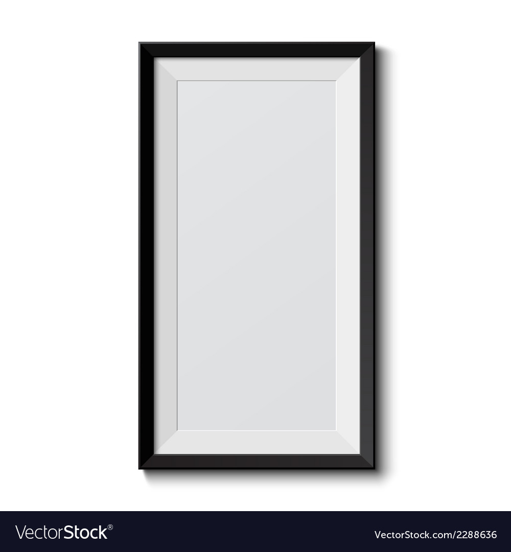 Realistic picture frame vector | Price: 1 Credit (USD $1)