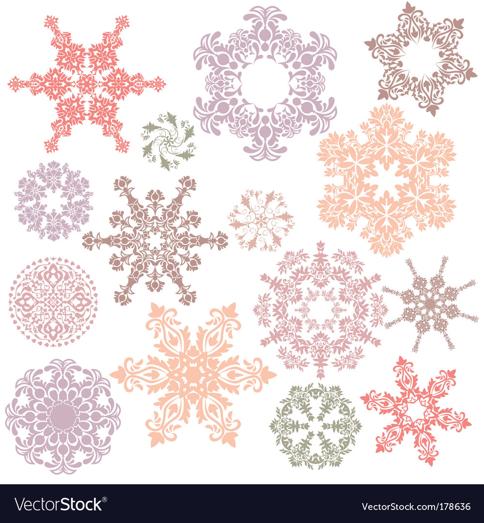 Set of ornamental design elements vector | Price: 1 Credit (USD $1)