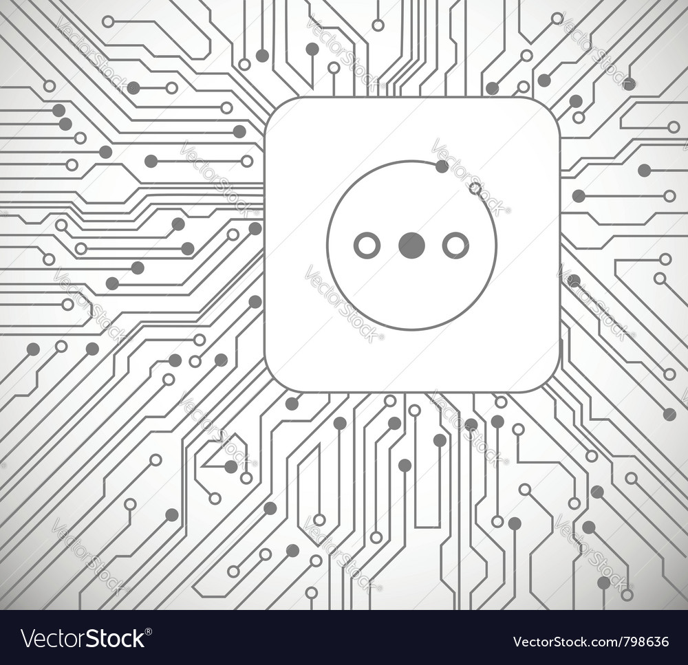 Socket circuit board vector | Price: 1 Credit (USD $1)