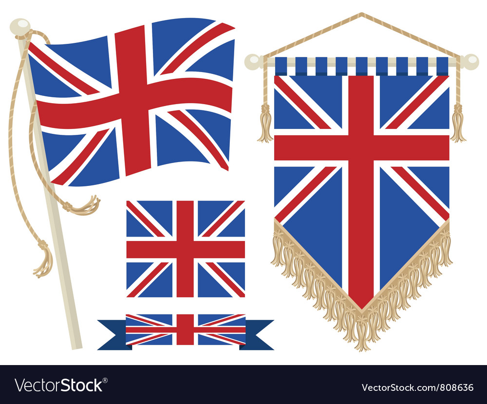 Uk flag and pennant vector | Price: 1 Credit (USD $1)