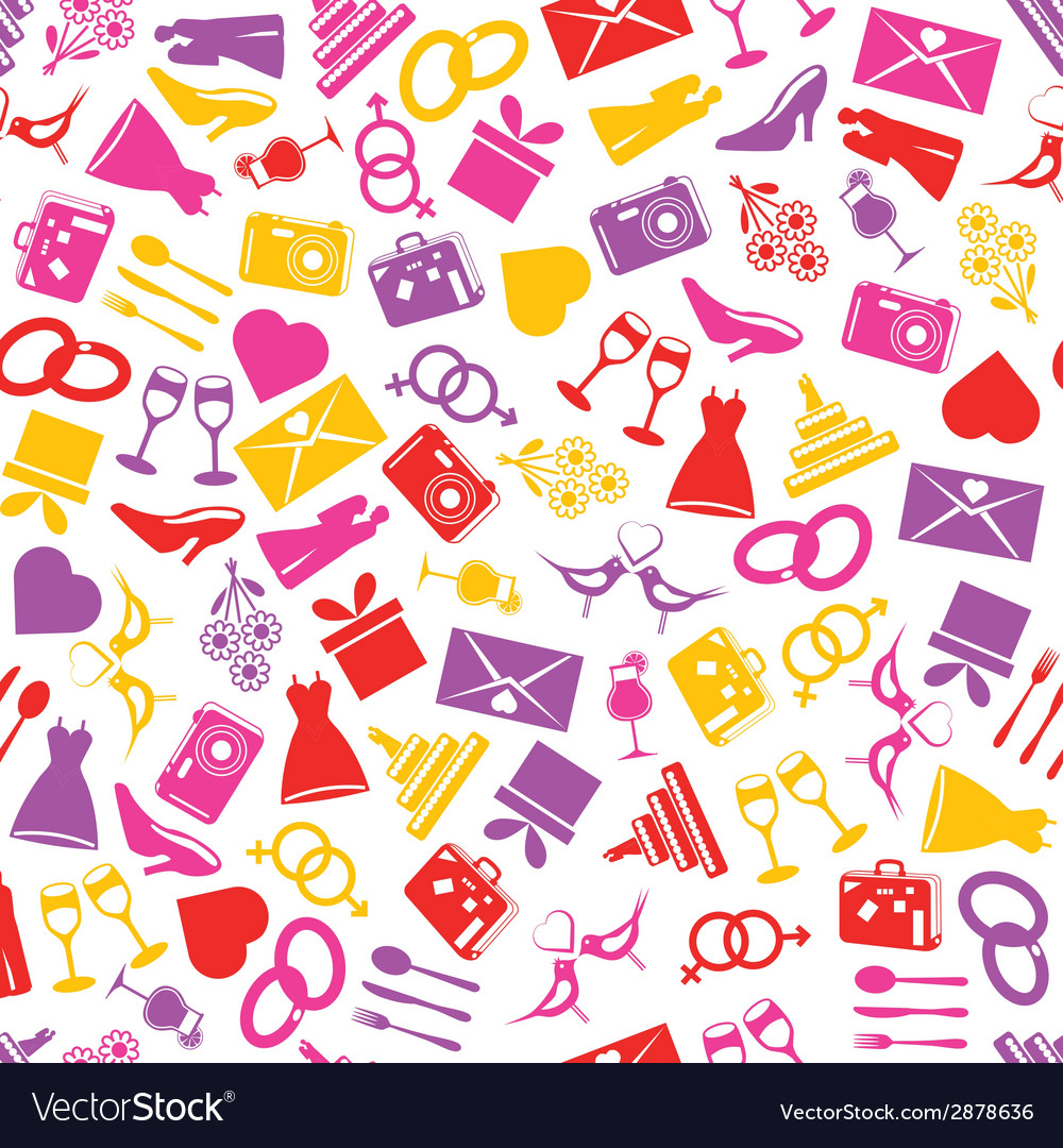 Wedding seamless pattern vector | Price: 1 Credit (USD $1)