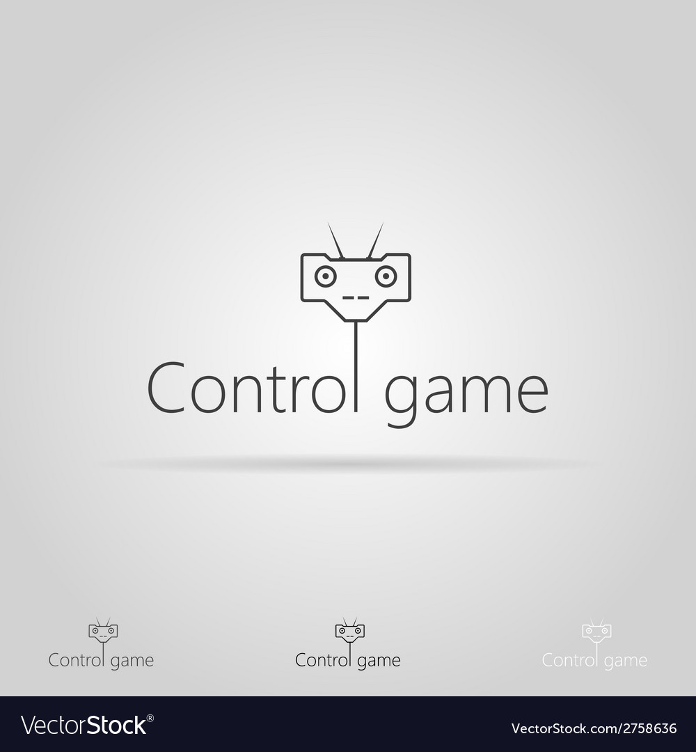 With icon for game control vector | Price: 1 Credit (USD $1)