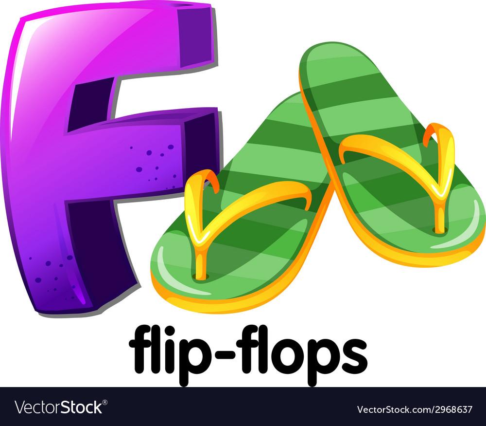 A letter f for flip-flops vector | Price: 1 Credit (USD $1)