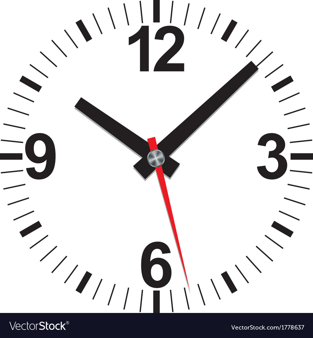 Analog clock icon vector | Price: 1 Credit (USD $1)