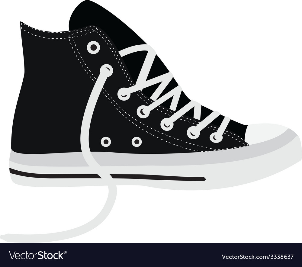 Black sneakers vector | Price: 1 Credit (USD $1)