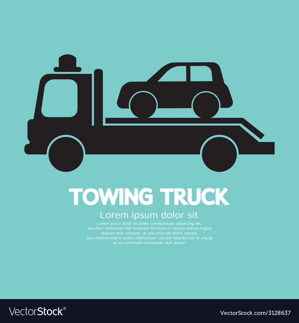 Car towing truck vector | Price: 1 Credit (USD $1)